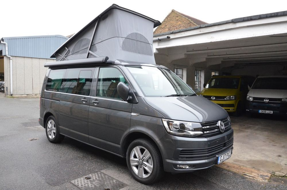 Ebay Vw California Ocean Campervan T6 2 0lt Bitdi 204ps 7sd Dsg Indium Grey Metallic Vwcalifornia Campervan Volkswagen California
