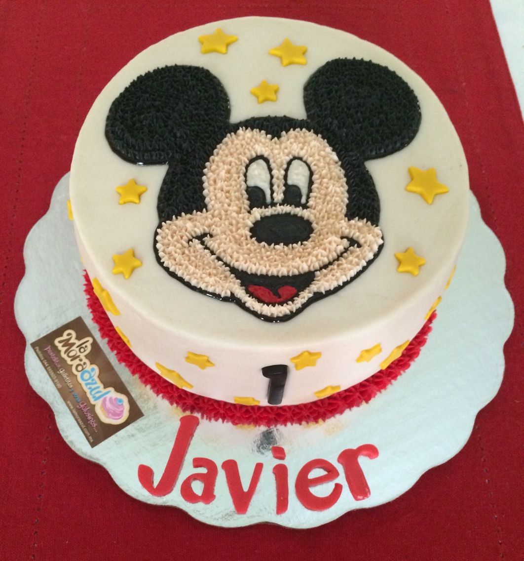 Magnificent Mickey Mouse Buttercream Cake Second Birthday Cakes Mickey And Funny Birthday Cards Online Hendilapandamsfinfo