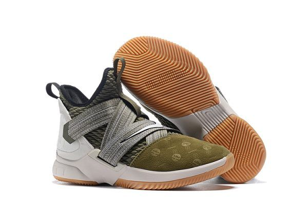 a4d5ef7d9eb1 Nike LeBron Soldier 12 Land and Sea Olive Green AO2609-300-4