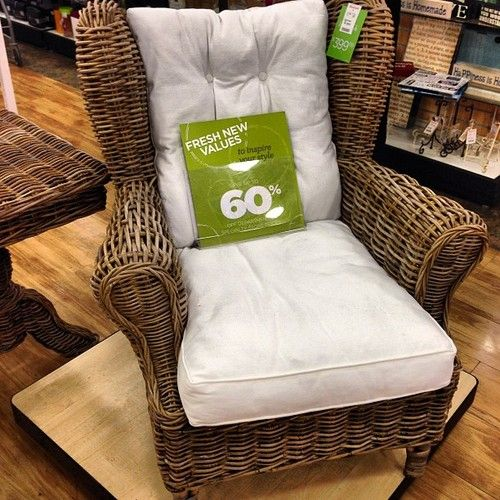 Stunning Wicker Chair 399 Homegoodsobsessed Homegoods Uws Nyc Interiors Furniture Beachhouse Porch At
