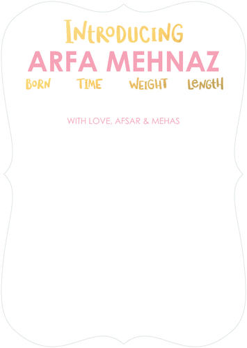 Click to zoom in arfa mehnaz pinterest unique invitations find unique stylish personalized baby photo birth announcements birthday party invitations holiday cards thank you cards as seen at the oscars stopboris Choice Image