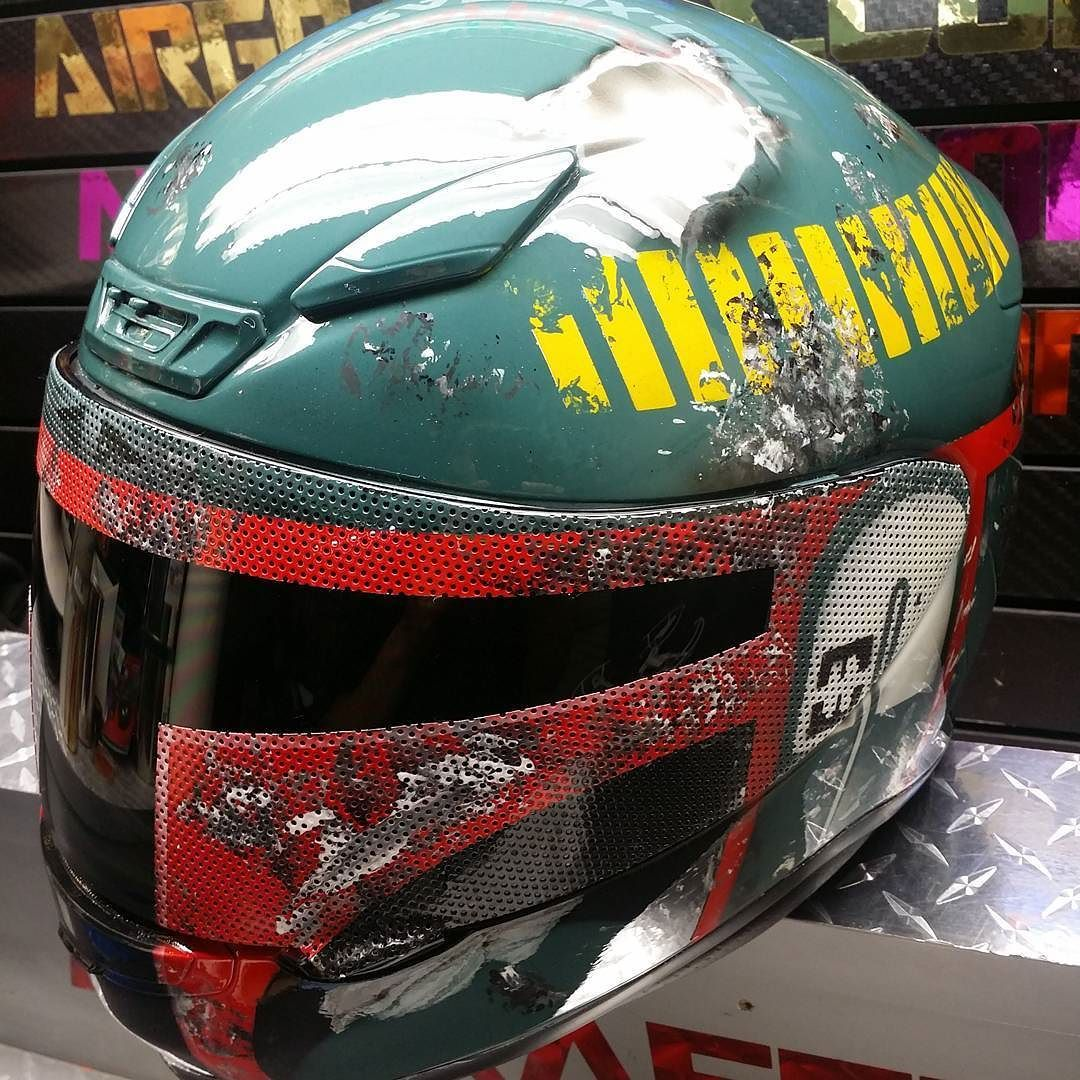 Custom Airbrushed Motorcycle Helmet by Airgraffix.com 337