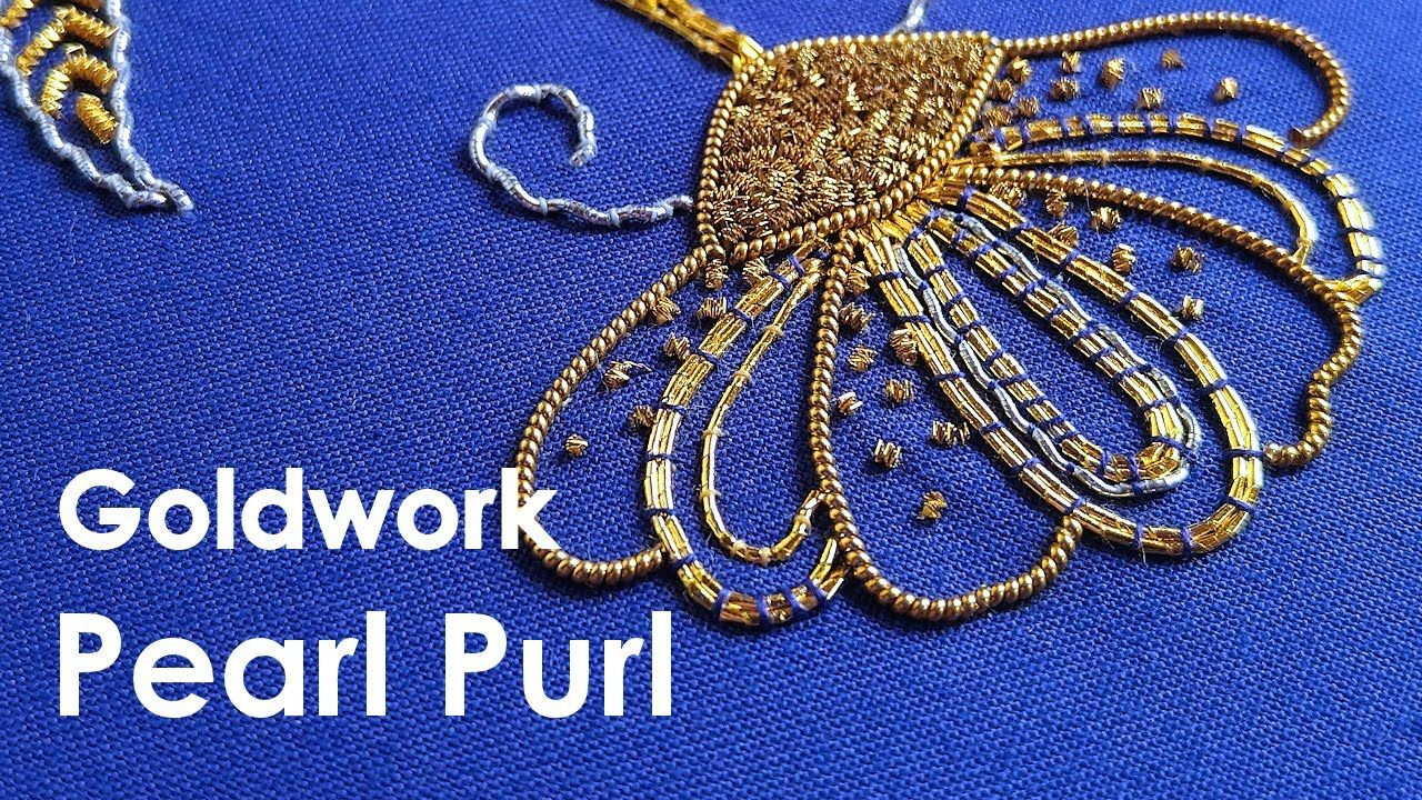 How to use Pearl Purl. Goldwork embroidery for beginners. Goldwork embro...