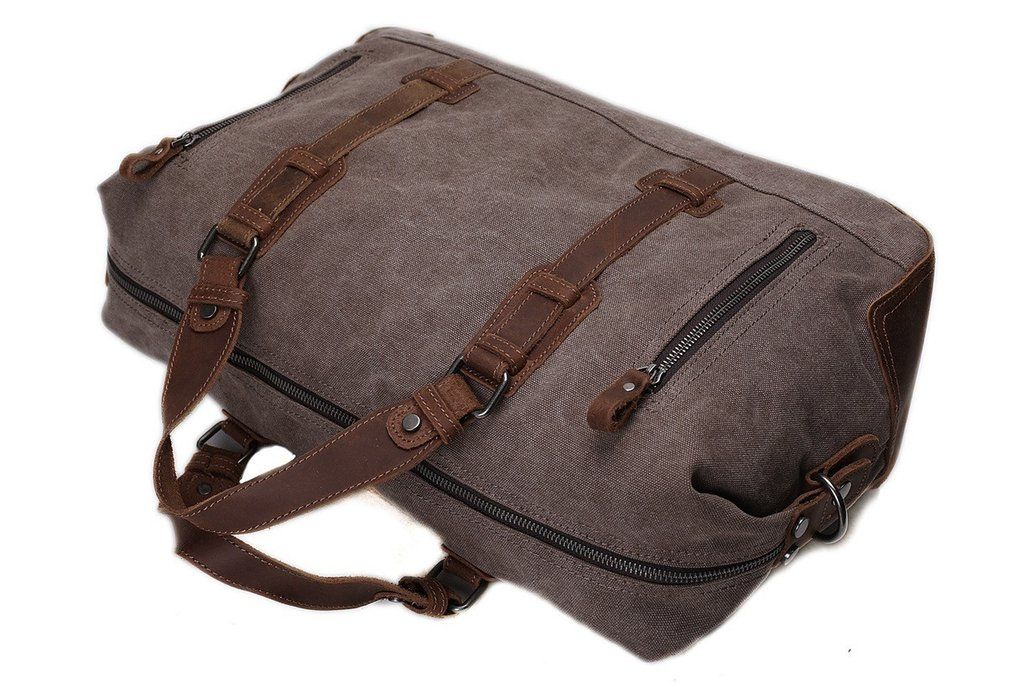 99f721e783ab This fantastic Handmade Holdall Duffle Bag is a superb example of our  Handcrafted Bags. We use selected genuine leather, waxed canvas, quality  hardware and ...