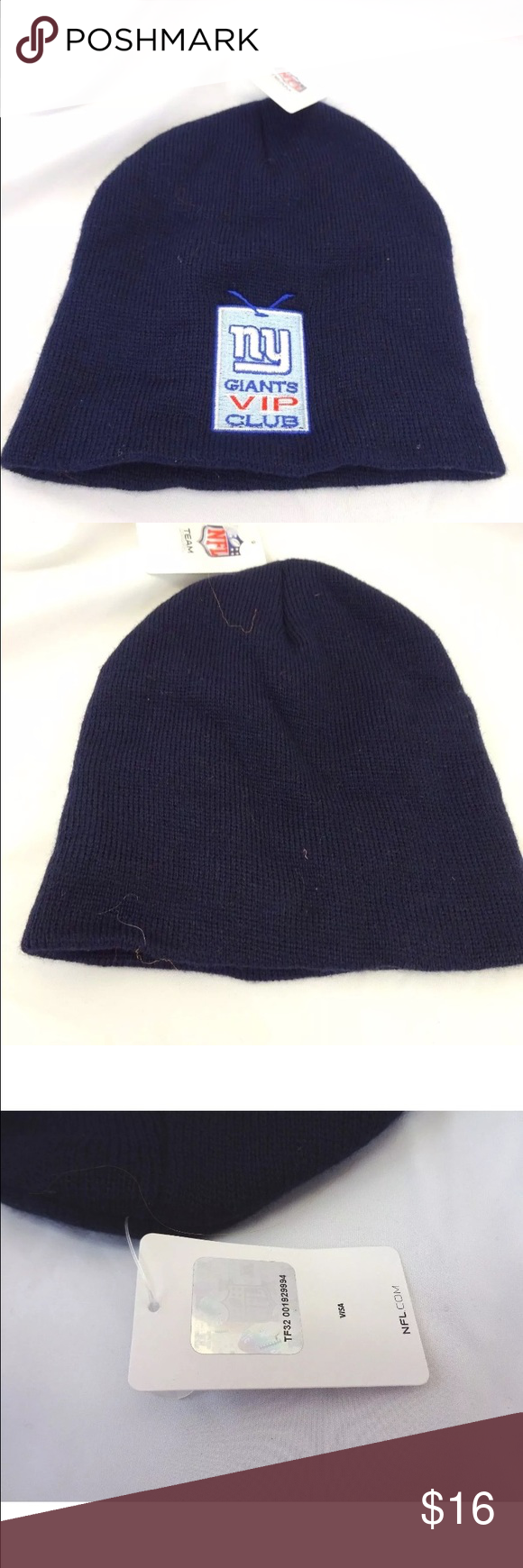 New York Giants Beanie Hat Nwt New York Giants Vip Club Hat Brand New With Tags No Visible Imperfections 100 Acrylic On Fashion Fashion Trends Clothes Design