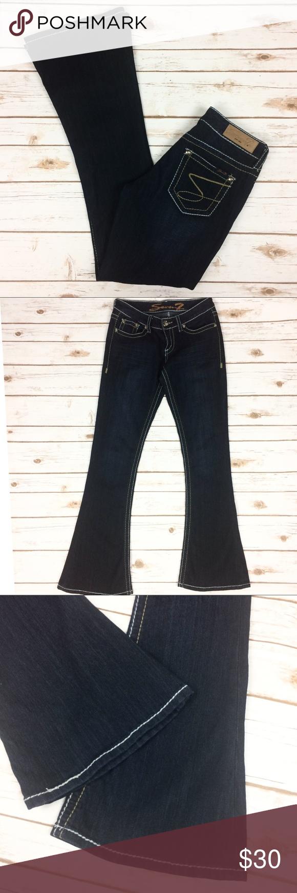 4a0c696738ace Seven7 Tulip dark wash flare jeans Seven7 Tulip dark wash flare jeans