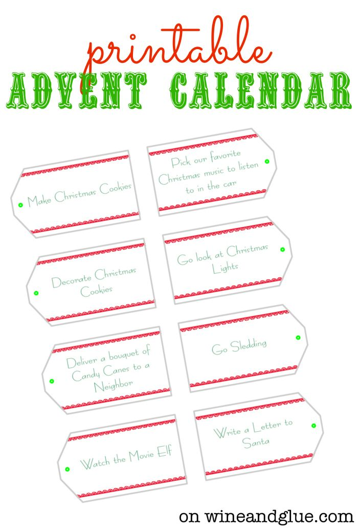 DIY Advent Calendar! Complete with FREE Printables to make it super