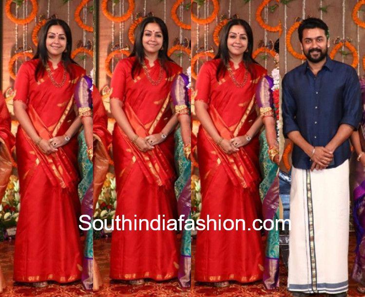 Jyothika Mehndi Ceremony : Surya jyothika at parthiban daughter wedding 600x489 blouse designs