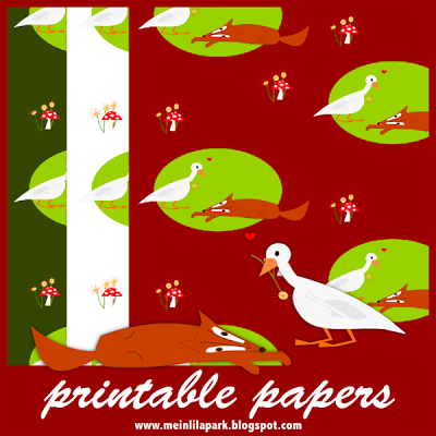 FREE #printable woodland #fox and goose scrapbooking and fun #papers