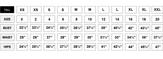 Size Chart New York Company