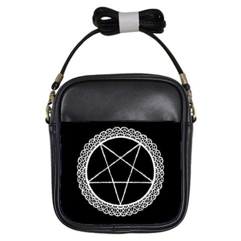 Lace Pentagram Shoulder Sling Purse by StuffoftheDead on Etsy