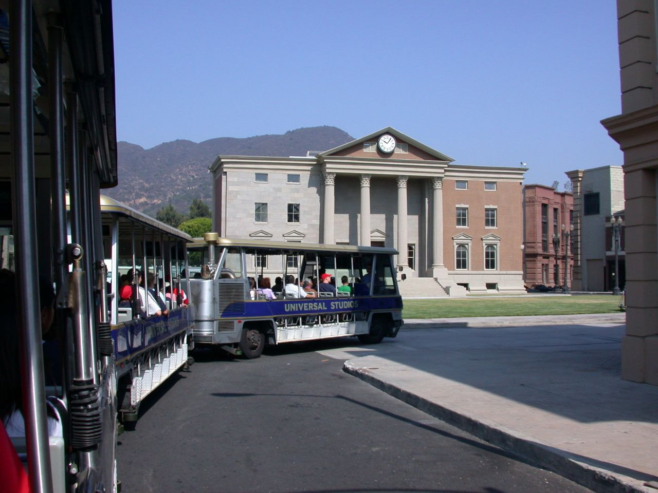 Back to the future set at Universal Studios Hollywood