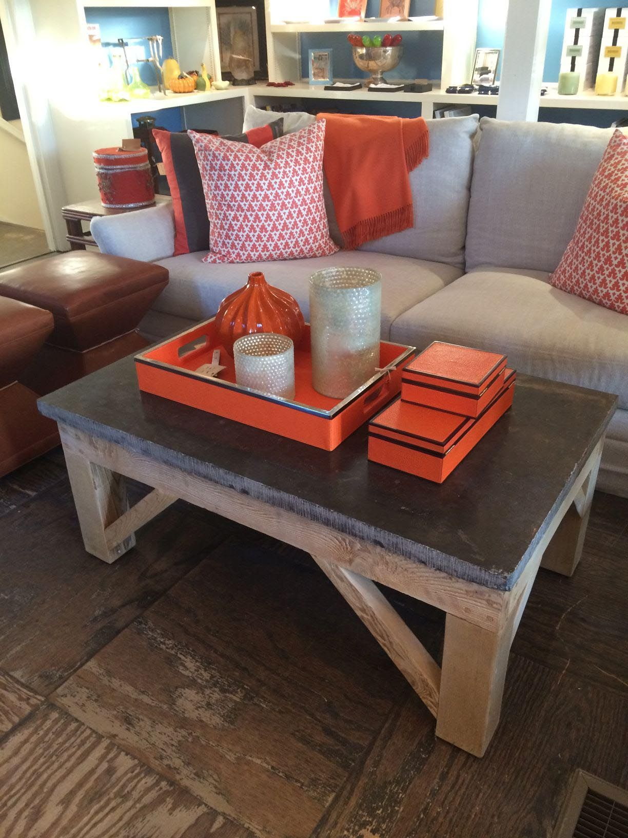 Blue Stone Top Coffee Table