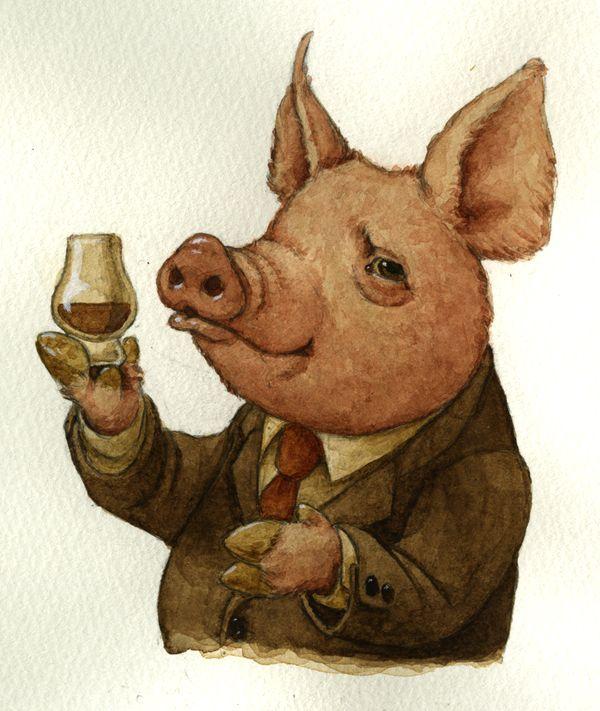 Zack Rock Pig Illustration Flying Pigs Art Pig Art