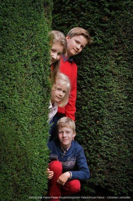NewMyRoyals: New Official Photos of the Belgian Royal Children, November 4, 2015-Princess Elisabath, Duchess of Brabant, Princess Eléonore, Prince Gabriel and Prince Emmanuel