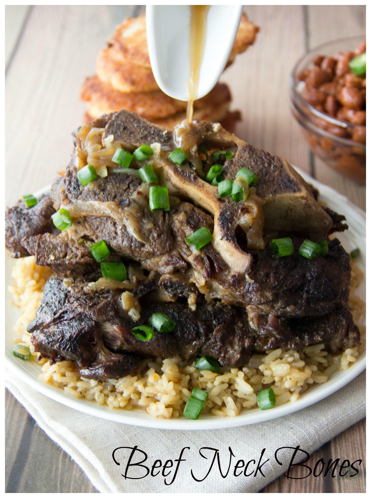 Soul Food Recipe These Tender And Succulent Fall Off The Bone Beef Neck Bones Will Take You Right Back To Your Beef Neck Bones Recipe Beef Neck Bones Food