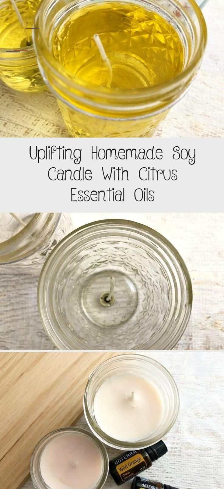Uplifting Homemade Soy Candle With Citrus Essential Oils ...