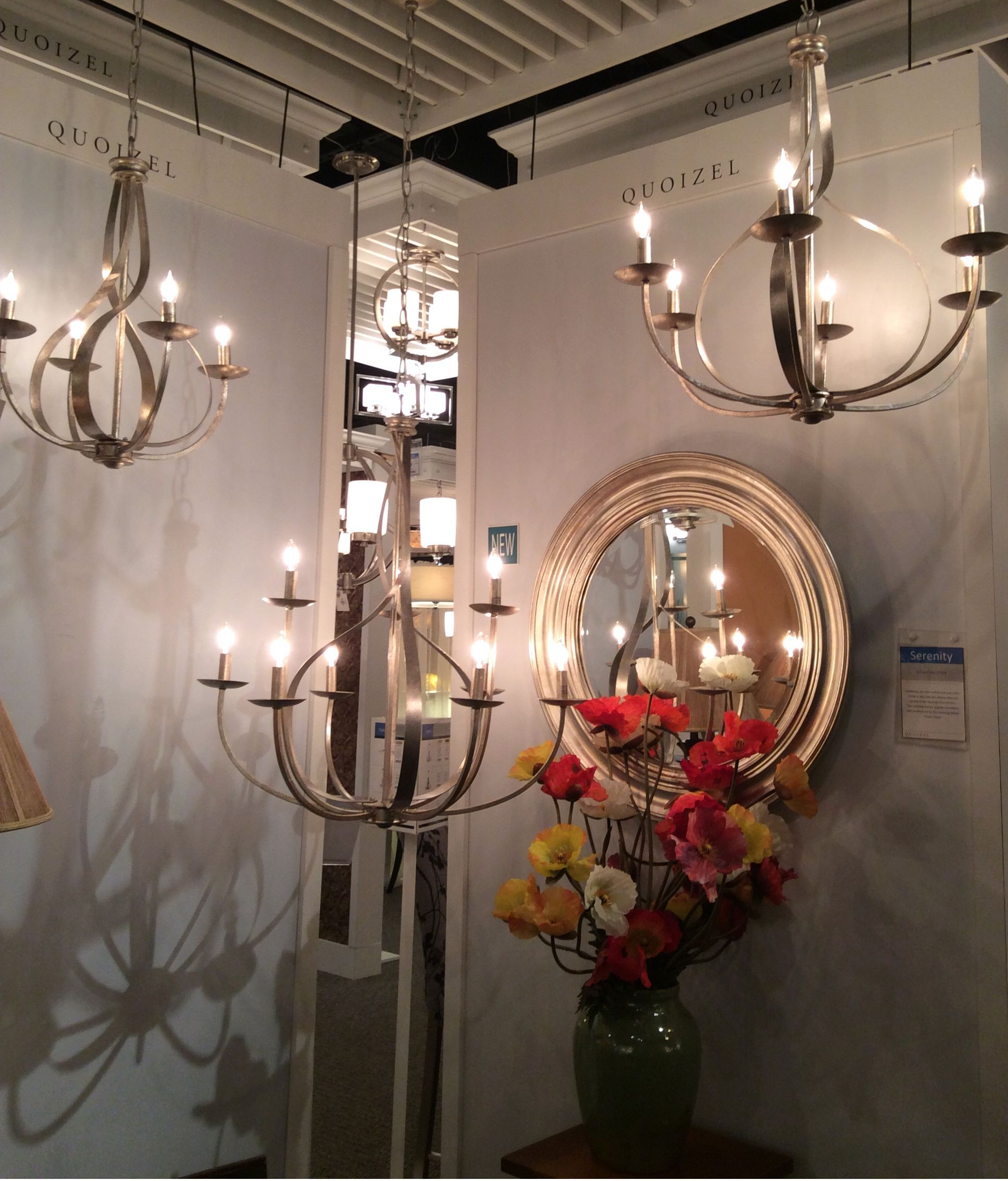 The new Serenity collection from Quoizel features flowing lines & a  beautiful nickel finish #JuneSneakPeek