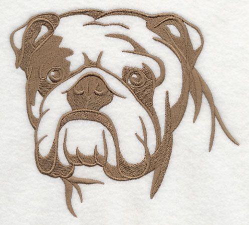 Machine Embroidery Designs At Embroidery Library English Bulldog Silhouette Bulldog Art Bulldog Tattoo English Bulldog