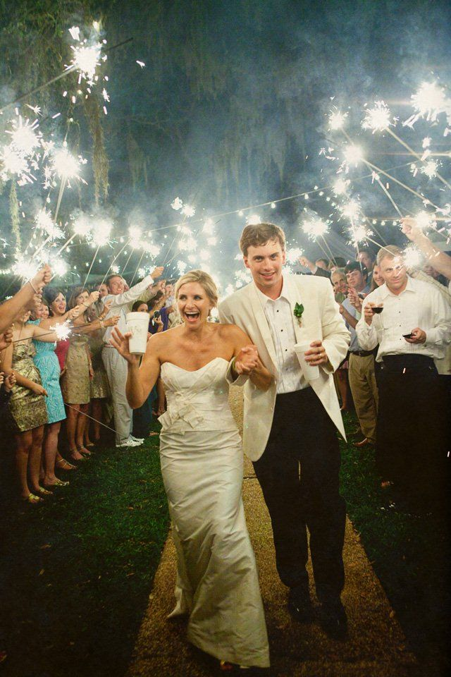Wedding How To The Sparkler Exit Elegant Backyard Wedding