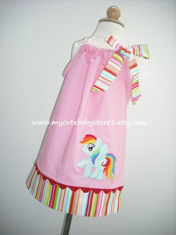 My Little Pony Rainbow Dash Pillowcase dress by mycutebabystore1, $28.50