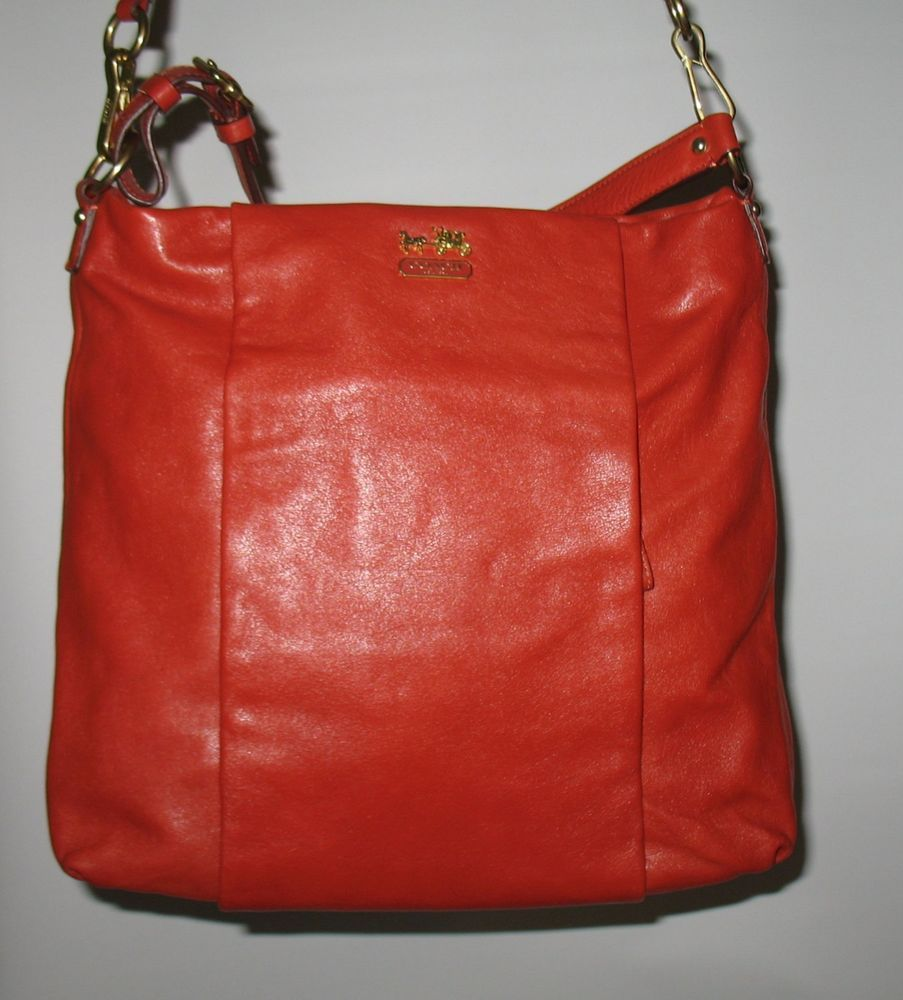 f94e8654bf02 ... canada new coach madison isabelle leather convertible hobo bag 21224  persimmon coach hobo 18f1a c6c0d