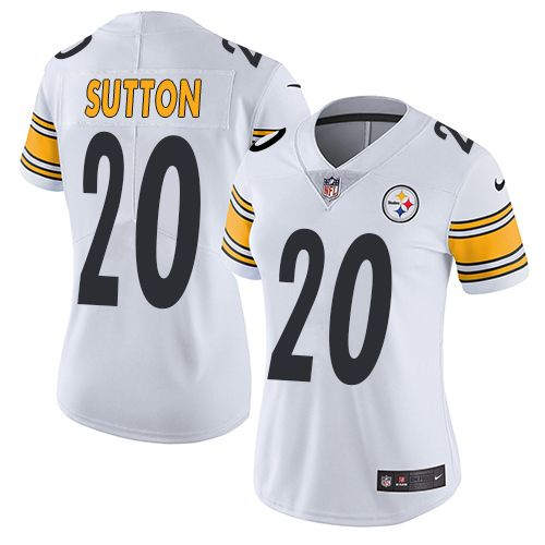 Women s Nike Pittsburgh Steelers  20 Cameron Sutton Limited White NFL Jersey 76657210cc