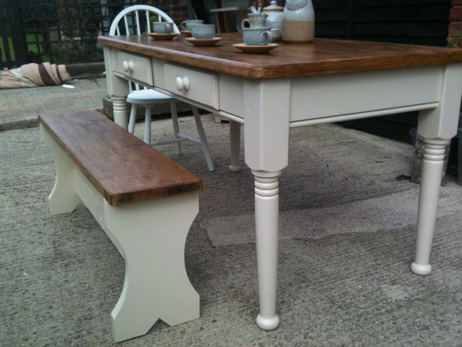 5 Ft X 3 Ft Farmhouse Pine Reclaimed Kitchen Dining Table 2
