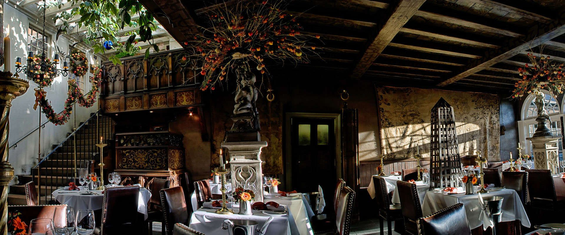 The Witchery is located at the top of the Royal Mile. The
