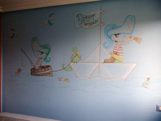Murales de verano baratos para ni os y bebes murales for Murales habitacion bebe