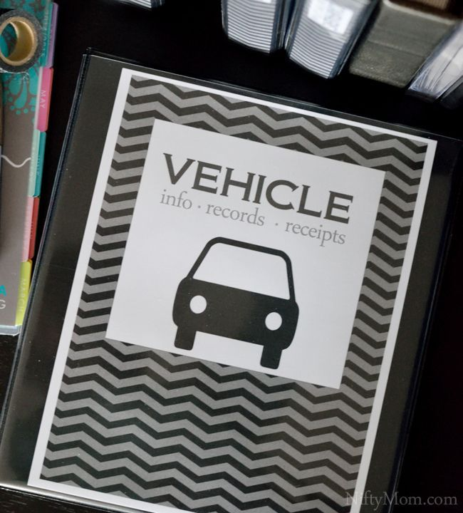 Vehicle Binder Cover Print Off Free Car Maintenance Printables To