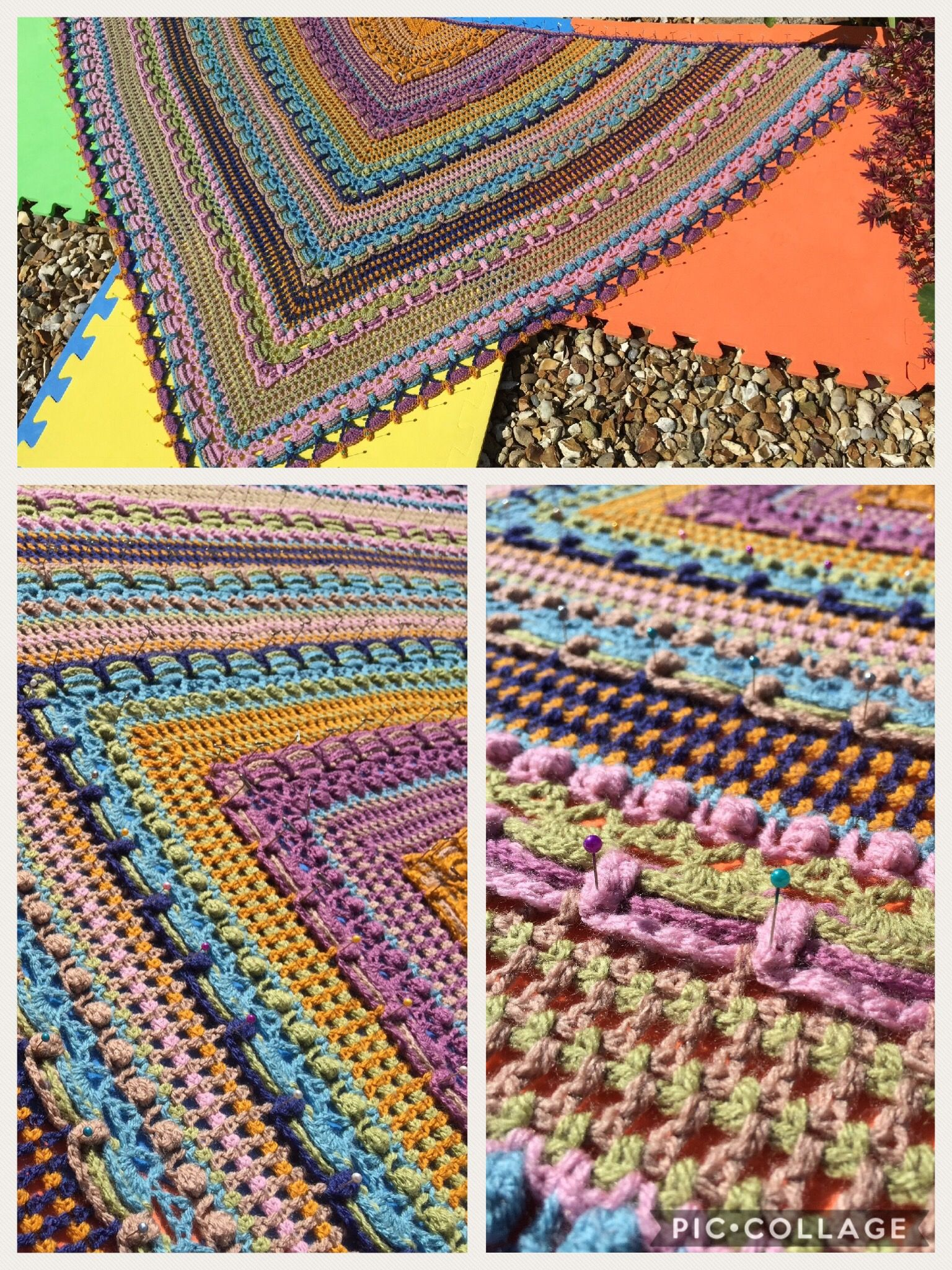 Mijo crochet Lost in time shawl Free pattern   PRENDAS DE LANA ...