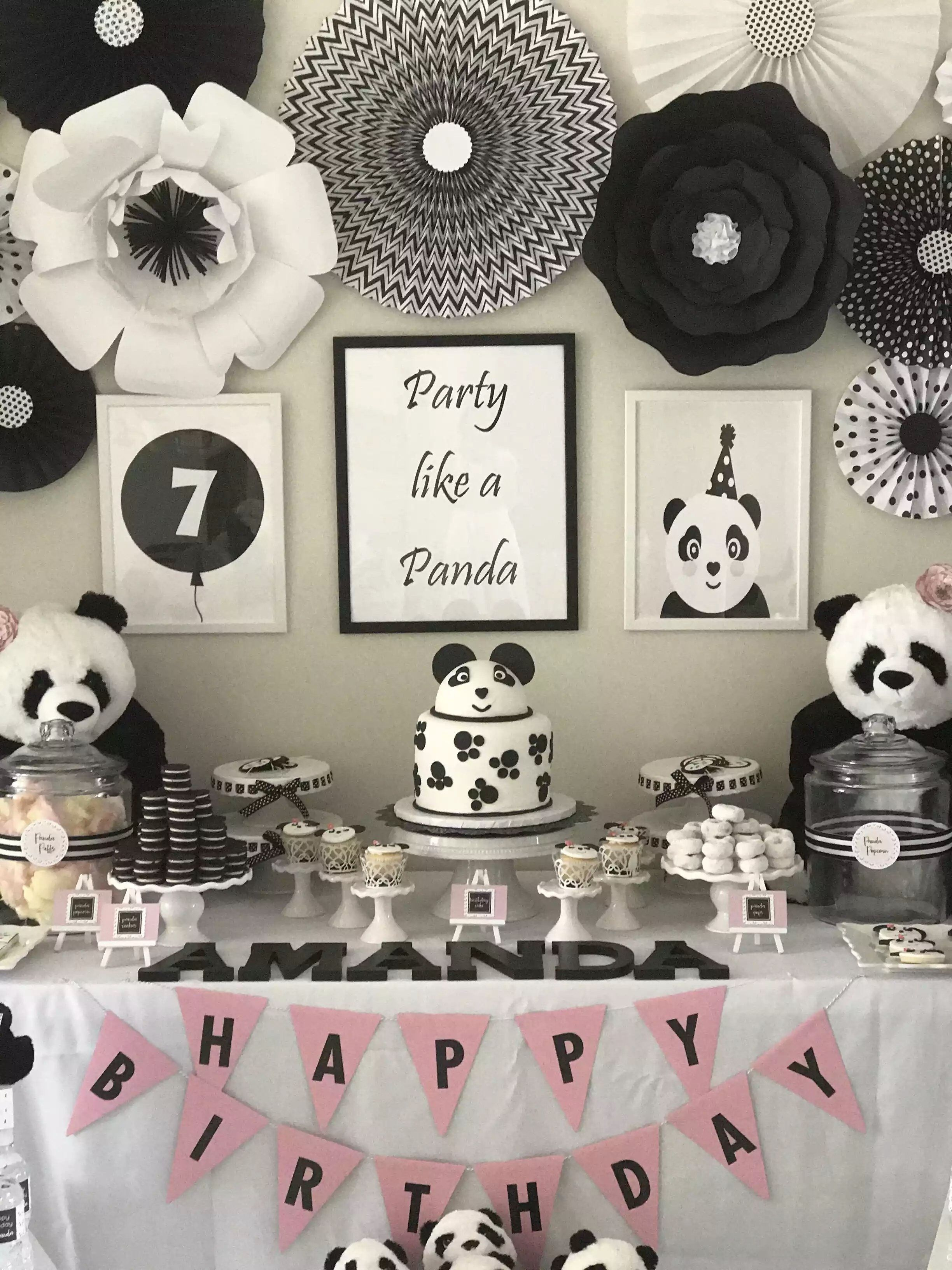 Panda Party Decorations Panda Party Favors Panda
