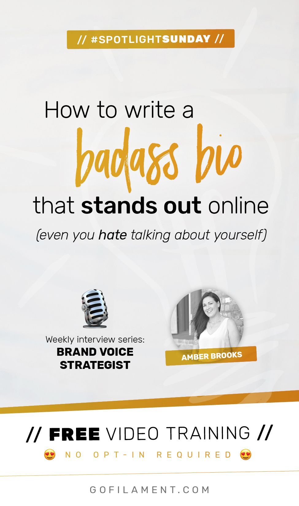 Amber Brooks is a copywriter and brand voice strategist and she's