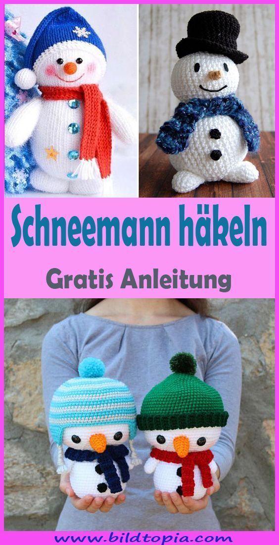 Knithat Häkeln Sie Schneemann - Free & Easy Tutorial - Kleiner Balkon Ideen- Häkeln ... 30 ...