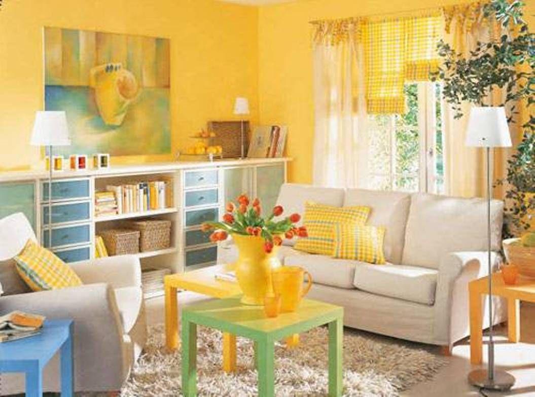 Home Design and Decor , Small Space Interior Decor : Bright Yellow ...