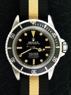 Rolex on a perfect nato (this is the way James Bond wears it)