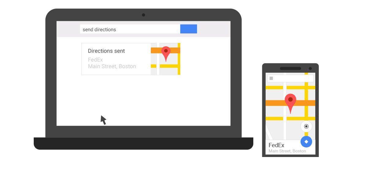 How to send google maps directions from chrome to your