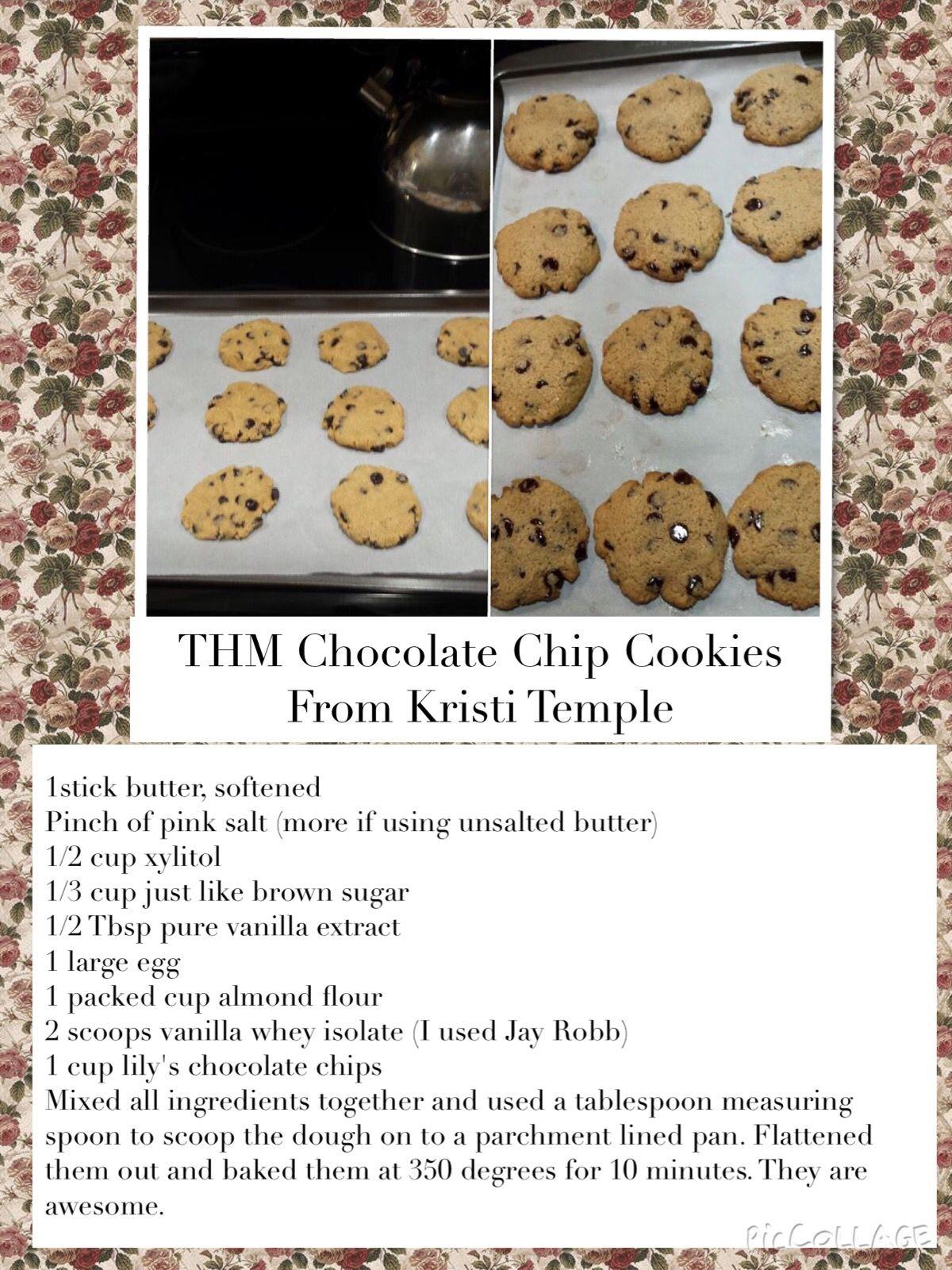 THM Chocolate Chip Cookies