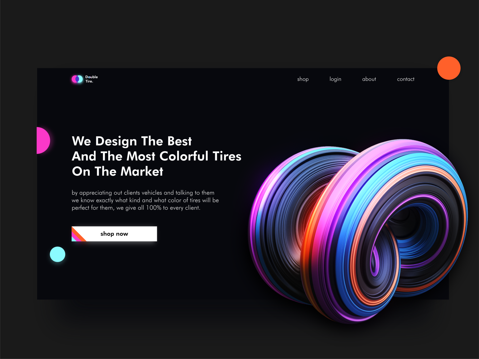 Double Tire Website Hero Section Web Design Inspiration Web Design Website Design Company