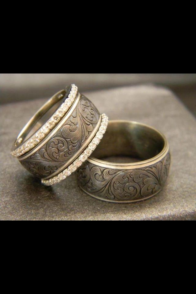 Western Rings Western Wedding Rings Sets Western Wedding Rings Pink Sapphire Ring Engagement