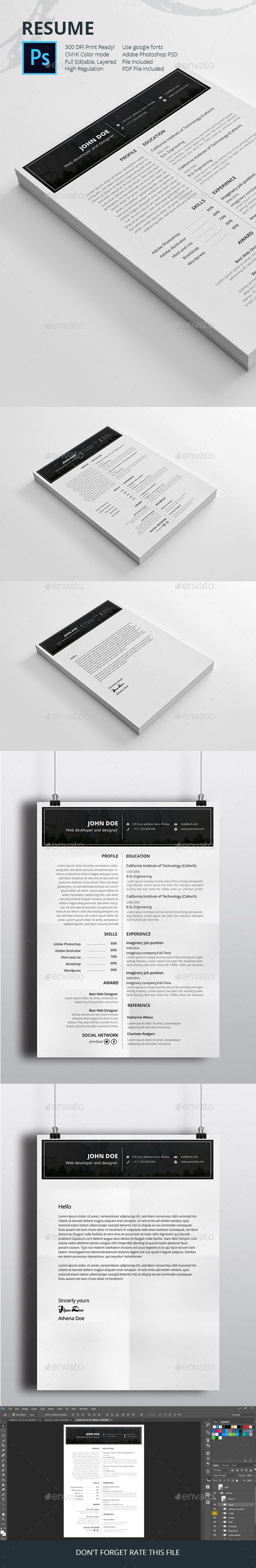 Job resume templates by graphicalark Professionally designed