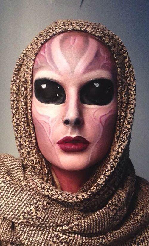 Crazy Halloween Ideas.Diy Alien Costume Idea Creepy Halloween Makeup Crazy Halloween Makeup Alien Makeup