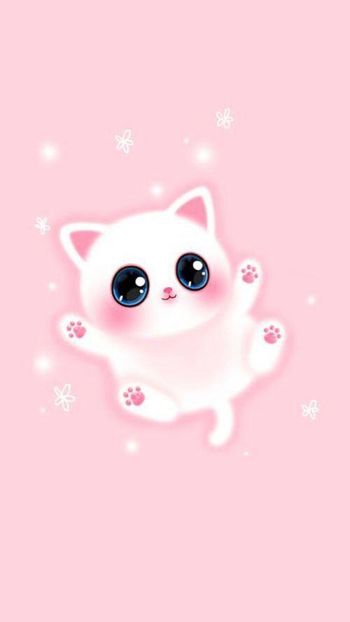 Wallpaper Kucing Lucu Pink
