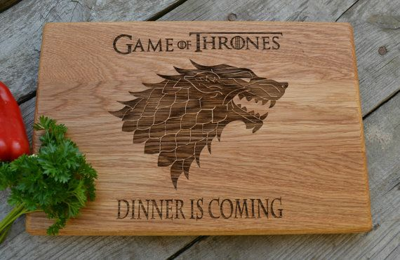Dinner Is Coming Cutting Board Game Of Thrones Kitchen Decor Gift For Dad  Wooden Cutting Board
