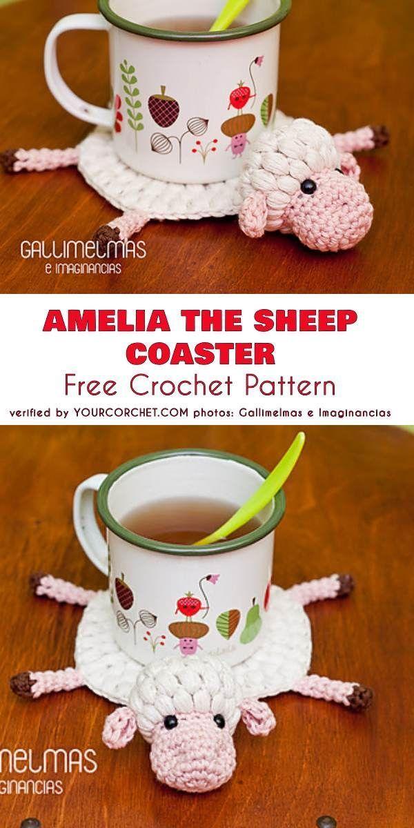 Photo of Amelia the Sheep Coaster Free Crochet Pattern    #crochet#amigurumi#h…