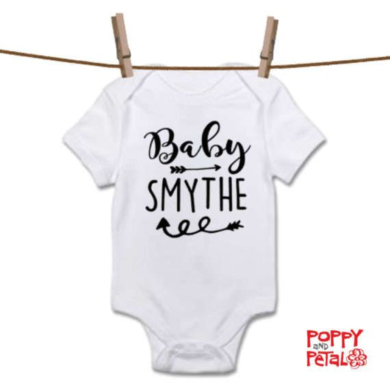 Baby Last Name Bodysuit Surname Baby Vest Unisex Baby Gift