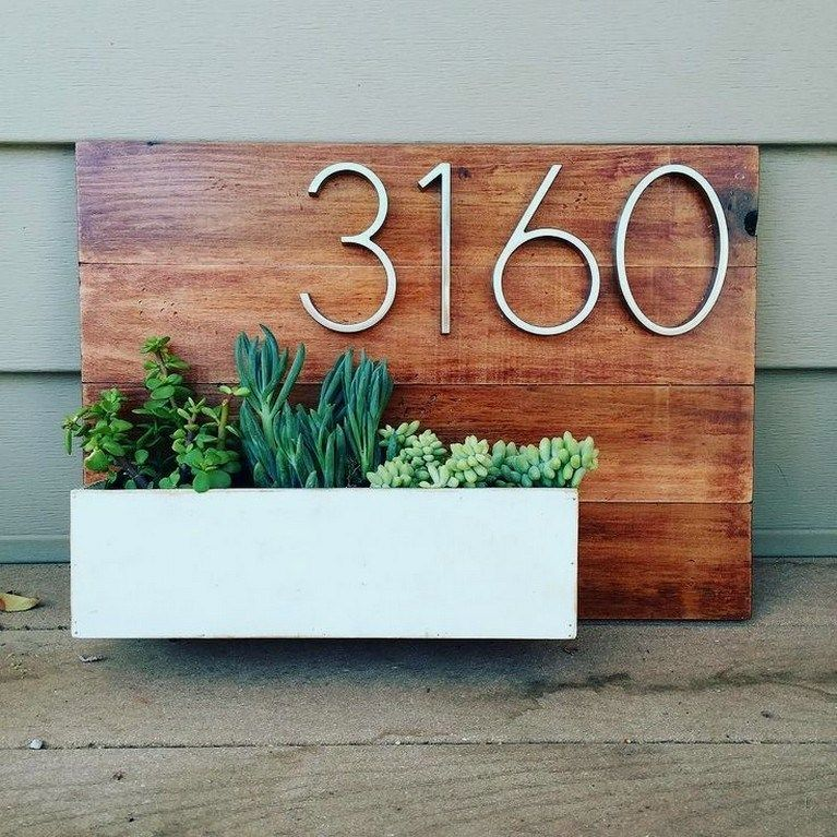 Diy House Number Sign 27 In 2020 With Images House Numbers Diy