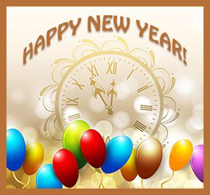 Happy New Year With Balloons. Clipart BabyGood ...