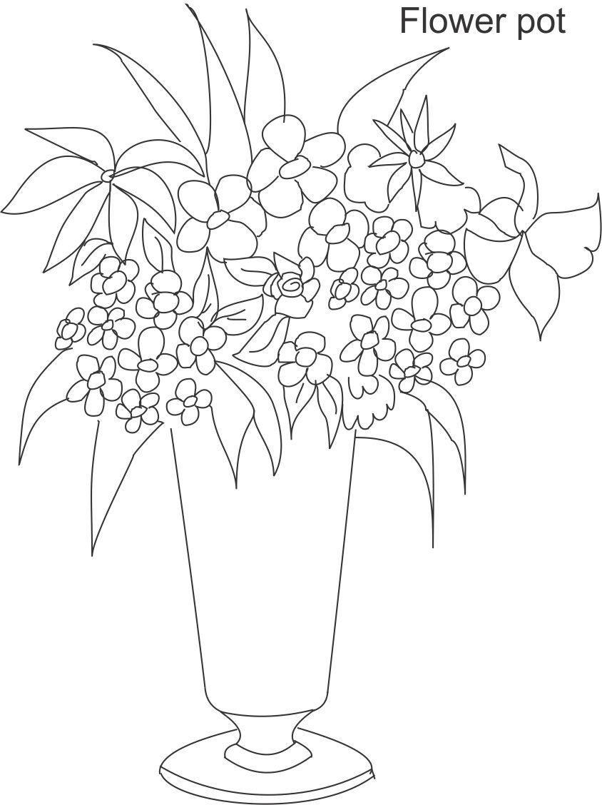Line Drawing Flower Vase : Line drawings of flowers in vases google search